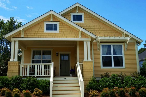 Craftsman Exterior - Front Elevation Plan #461-53