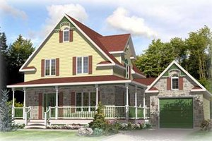 Traditional Exterior - Front Elevation Plan #138-301