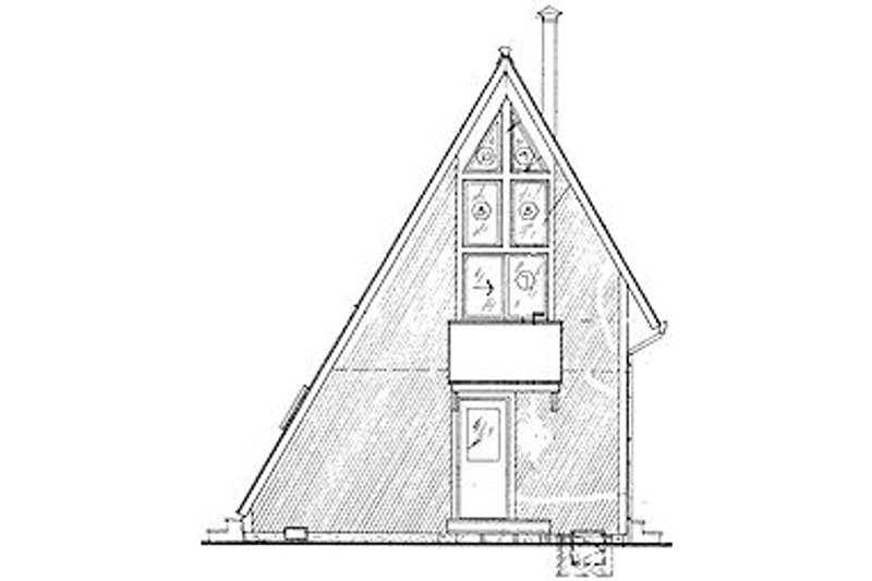 Cottage Exterior - Rear Elevation Plan #320-409 - Houseplans.com