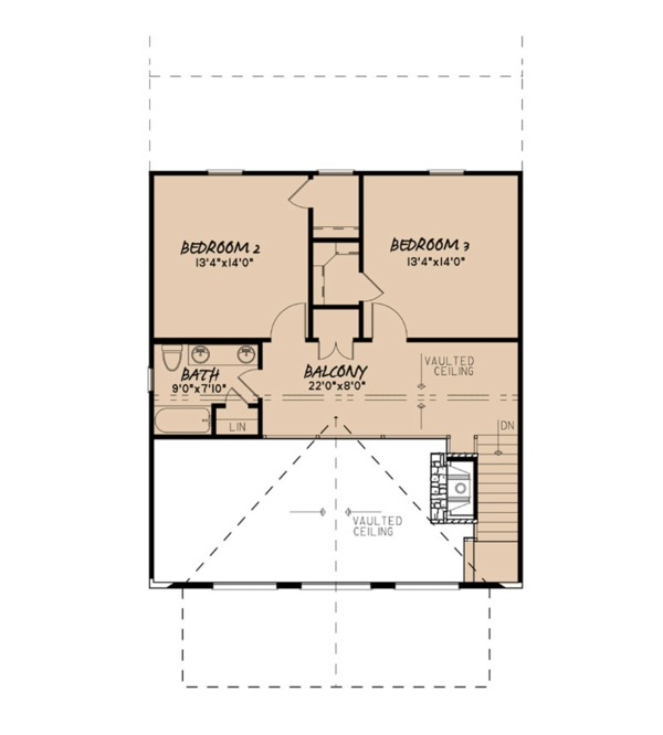 Farmhouse Floor Plan - Upper Floor Plan Plan #923-91
