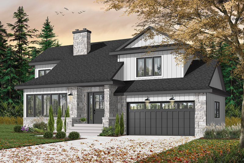 Home Plan - Traditional Exterior - Front Elevation Plan #23-712