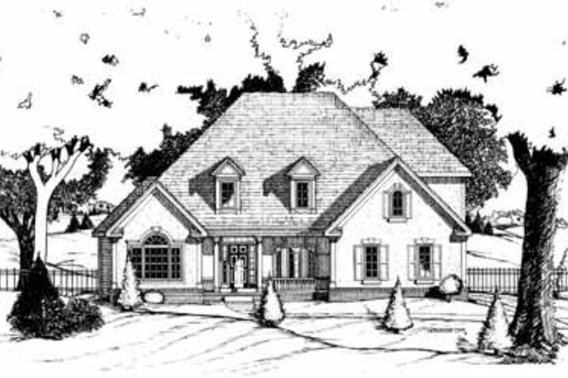 Traditional Exterior - Front Elevation Plan #20-913 - Houseplans.com
