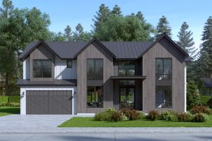 Country Exterior - Front Elevation Plan #1066-42