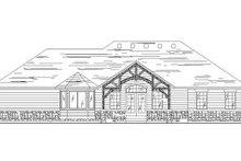 Colonial Exterior - Rear Elevation Plan #5-237
