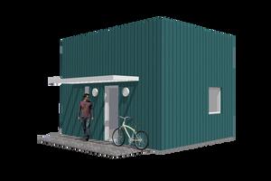 Modern Exterior - Front Elevation Plan #549-23