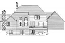 Dream House Plan - European Exterior - Rear Elevation Plan #46-485