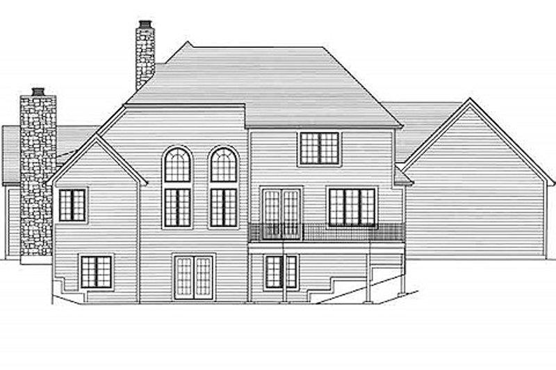 European Exterior - Rear Elevation Plan #46-485 - Houseplans.com