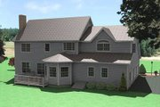 Traditional Style House Plan - 4 Beds 2.5 Baths 3067 Sq/Ft Plan #75-180 Exterior - Rear Elevation
