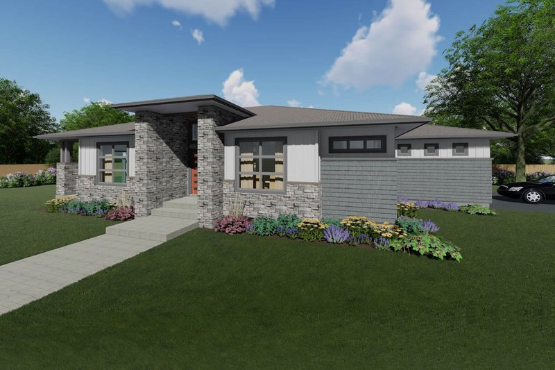 Architectural House Design - Ranch Exterior - Front Elevation Plan #126-233