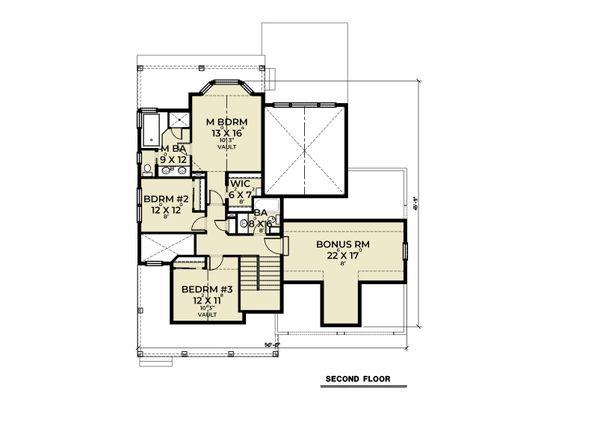 Craftsman Floor Plan - Upper Floor Plan #1070-126