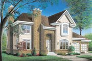 Traditional Style House Plan - 4 Beds 3.5 Baths 4075 Sq/Ft Plan #23-292 Exterior - Front Elevation