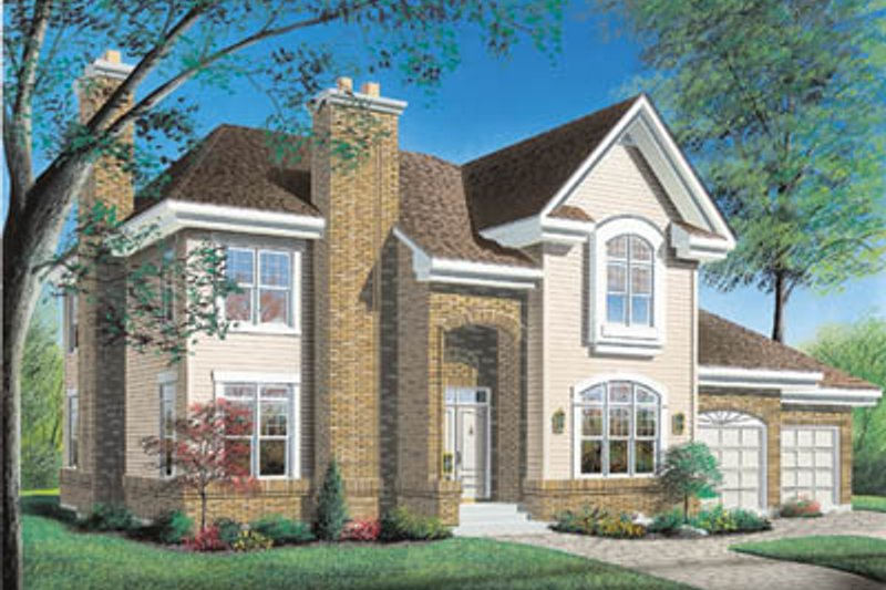 Traditional Exterior - Front Elevation Plan #23-292 - Houseplans.com