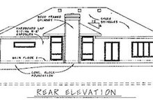 Home Plan - Traditional Exterior - Rear Elevation Plan #20-608