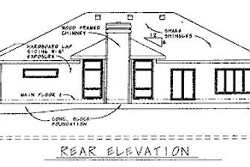 Traditional Exterior - Rear Elevation Plan #20-608 - Houseplans.com