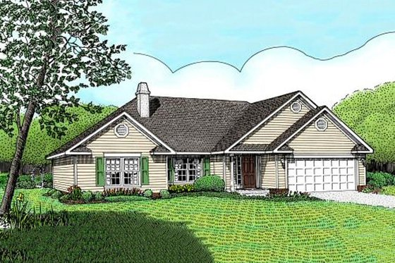 Traditional Exterior - Front Elevation Plan #11-102