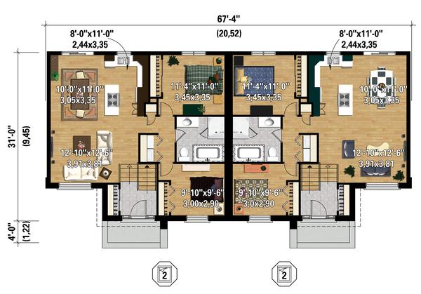 Contemporary Floor Plan - Main Floor Plan Plan #25-4398