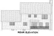 Colonial Style House Plan - 3 Beds 2.5 Baths 2064 Sq/Ft Plan #75-103 Exterior - Rear Elevation