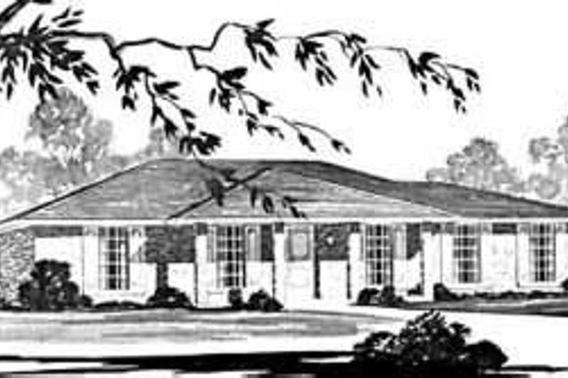 Ranch Exterior - Front Elevation Plan #36-356
