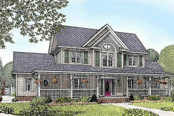 Country Exterior - Front Elevation Plan #11-216