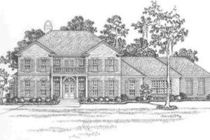 Southern Exterior - Front Elevation Plan #325-260