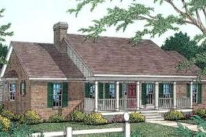 Country Exterior - Front Elevation Plan #406-252