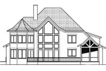 European Exterior - Rear Elevation Plan #413-822