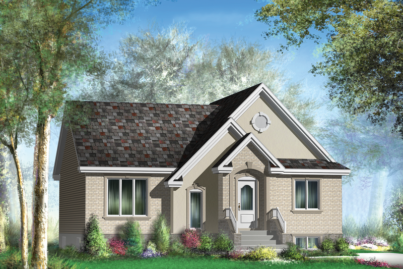 Traditional Style House Plan - 2 Beds 1 Baths 1086 Sq/Ft Plan #25-4826 Exterior - Front Elevation
