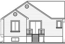 Cottage Exterior - Rear Elevation Plan #23-707