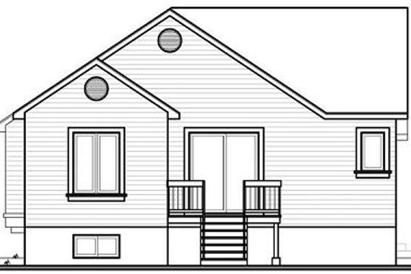 Cottage Exterior - Rear Elevation Plan #23-707 - Houseplans.com