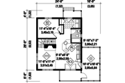 Country Style House Plan - 2 Beds 2 Baths 1015 Sq/Ft Plan #25-4310 Floor Plan - Main Floor Plan