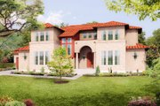 Mediterranean Style House Plan - 5 Beds 4 Baths 3585 Sq/Ft Plan #80-221 Exterior - Front Elevation