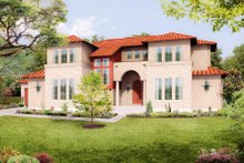 Mediterranean Exterior - Front Elevation Plan #80-221