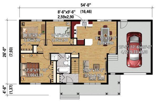 Country Floor Plan - Main Floor Plan #25-4461