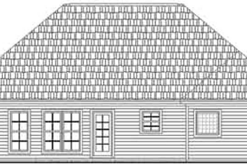 Traditional Exterior - Rear Elevation Plan #21-159 - Houseplans.com