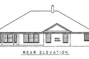 Traditional Style House Plan - 4 Beds 2 Baths 2128 Sq/Ft Plan #11-111 Exterior - Rear Elevation