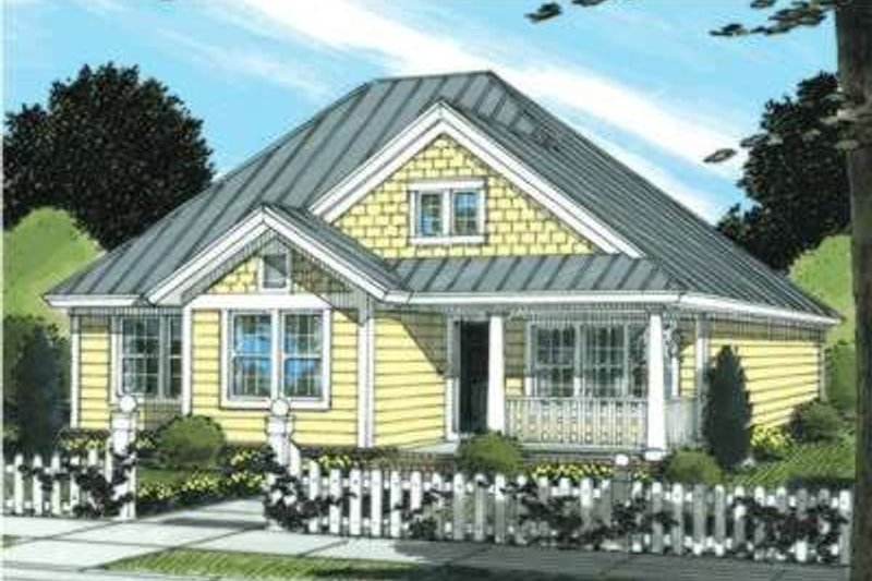 Cottage Exterior - Front Elevation Plan #20-1885