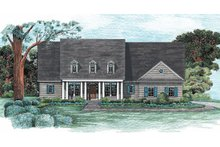 Home Plan - Country Exterior - Front Elevation Plan #20-128