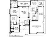 Ranch Style House Plan - 3 Beds 2.5 Baths 2130 Sq/Ft Plan #70-1421 Floor Plan - Main Floor