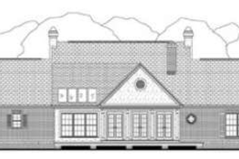 Southern Exterior - Rear Elevation Plan #406-165 - Houseplans.com