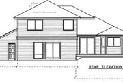 Traditional Style House Plan - 3 Beds 3 Baths 1872 Sq/Ft Plan #100-201 Exterior - Rear Elevation