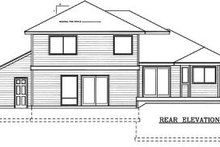 Dream House Plan - Traditional Exterior - Rear Elevation Plan #100-201