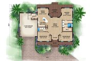 Beach Style House Plan - 3 Beds 2 Baths 1697 Sq/Ft Plan #27-481 Floor Plan - Main Floor