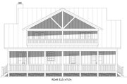 Cabin Style House Plan - 3 Beds 3.5 Baths 2292 Sq/Ft Plan #932-252 Exterior - Rear Elevation