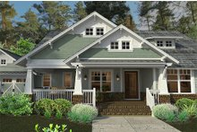 House Design - Bungalow style, Craftsman design front elevation