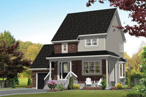 Country Exterior - Front Elevation Plan #25-4500
