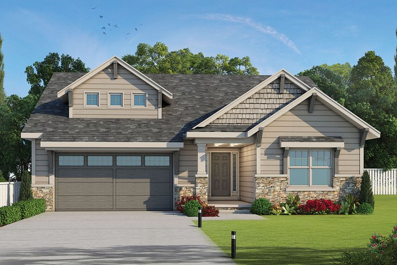 Architectural House Design - Ranch Exterior - Front Elevation Plan #20-2298