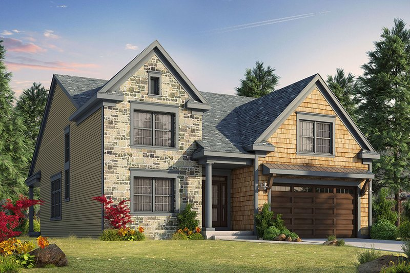 Craftsman Exterior - Front Elevation Plan #20-2280