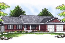 Ranch Exterior - Front Elevation Plan #70-790
