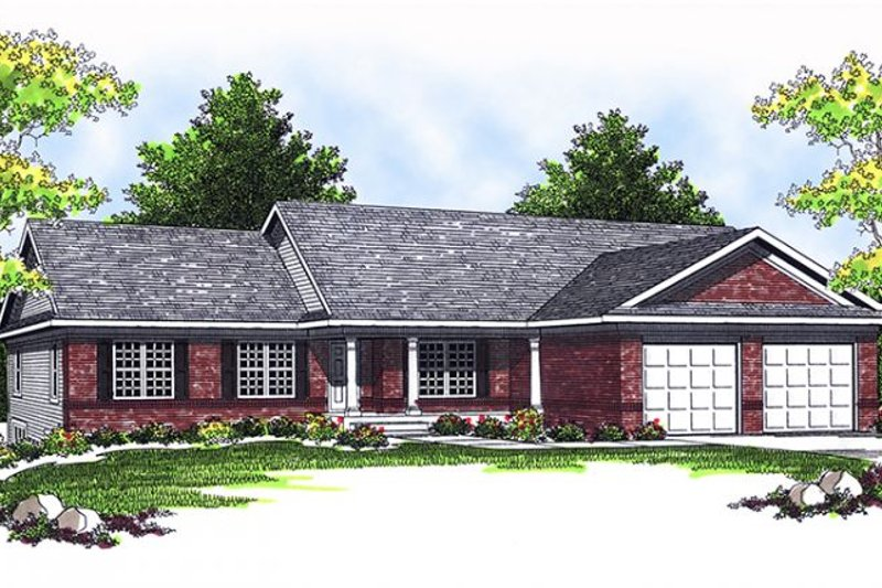 Home Plan - Ranch Exterior - Front Elevation Plan #70-790