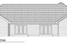 Dream House Plan - Traditional Exterior - Rear Elevation Plan #70-744